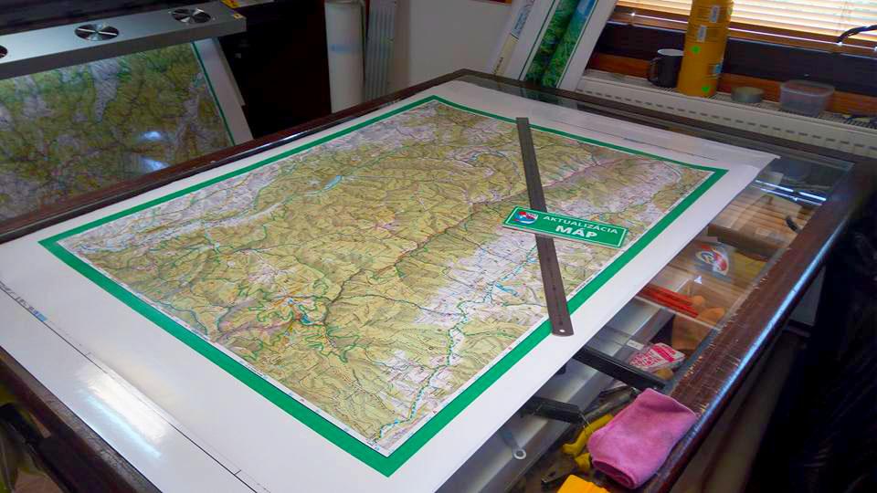 Tlač mapy VKÚ