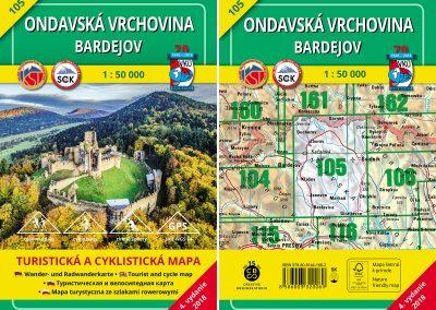 Turistická mapa VKÚ TM 105 – Ondavská vrchovina – Bardejov je tu :)