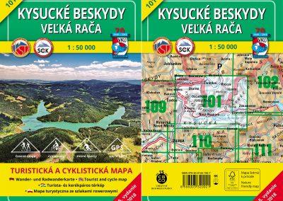 Horúca novinka – turistická mapa VKÚ TM 101 – Kysucké Beskydy – Veľká Rača práve prichádza!