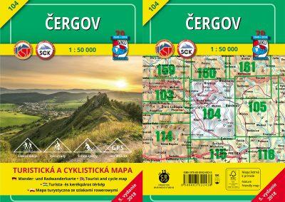 Vydali sme novo aktualizovanú turistickú a cyklistickú mapu Čergov (104).