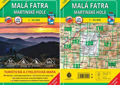 A už ich je 20! Nová turistická mapa VKÚ TM 120 – Malá Fatra – Martinské hole uzatvára prvú dvadsiatku.