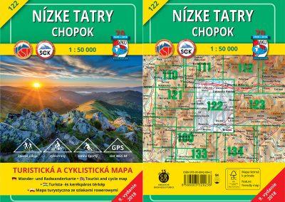 Turistická a cyklistická mapa VKÚ 122 – Nízke Tatry – Chopok (TM 122) je tu!