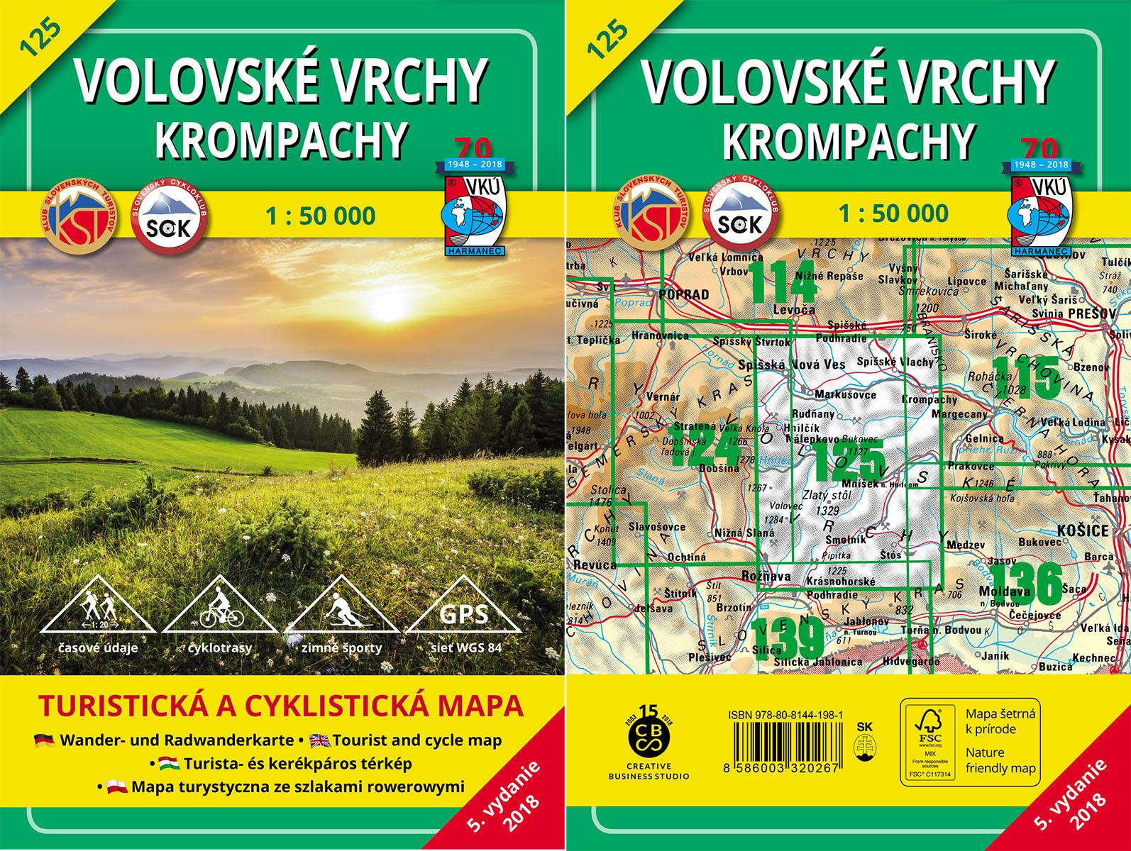 Turistická mapa VKÚ TM 125 – Volovské vrchy – Krompachy je tu!