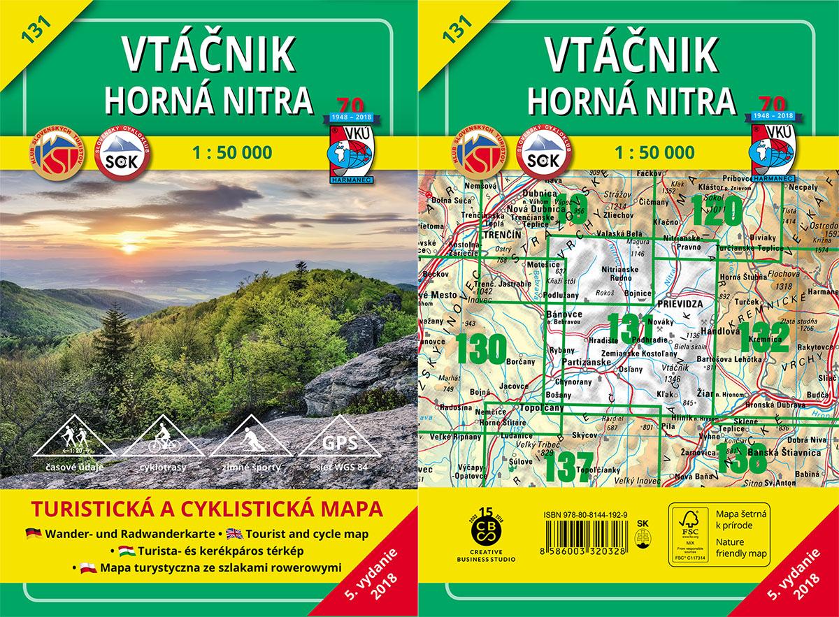 Novo aktualizovaná turistická mapa VKÚ TM 131 – Vtáčnik – Horná Nitra je tu!
