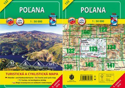 Turistická a cyklistická mapa VKÚ 133 – Poľana (TM 133) už čaká, kedy si ju pridáte do turistickej výbavy!
