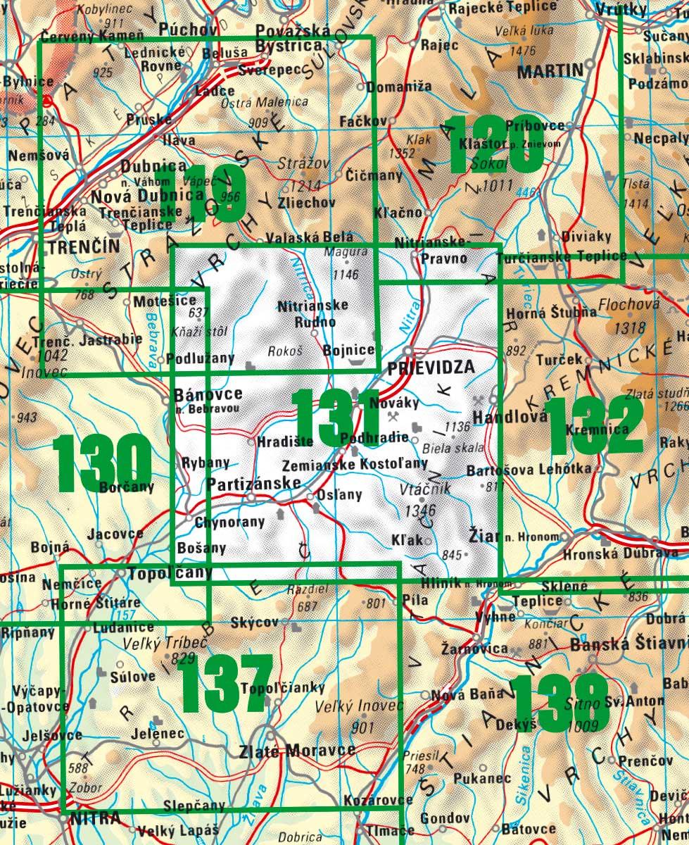 a16be6c70 A aby ste cestou neblúdili, práve pre vás prinášame úplne čerstvo  aktualizovanú turistickú mapu VKÚ TM 131 – Vtáčnik – Horná Nitra.