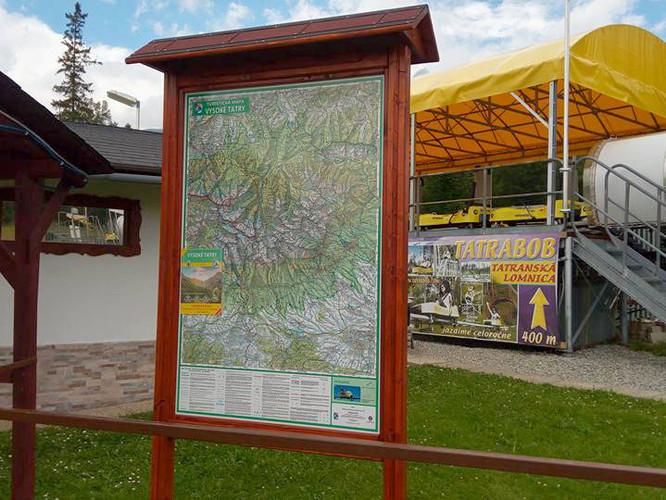 Tabuľa s mapu VKÚ