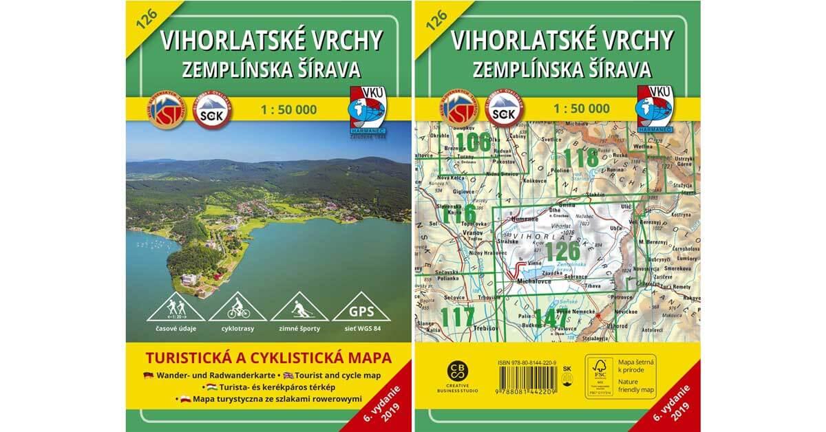 Turistická mapa TM 126 Vihorlatské vrchy – Zemplínska šírava je tu!