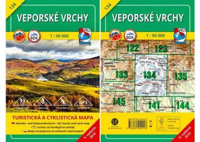 Turistická mapa TM 134 – Veporské vrchy je už na svete