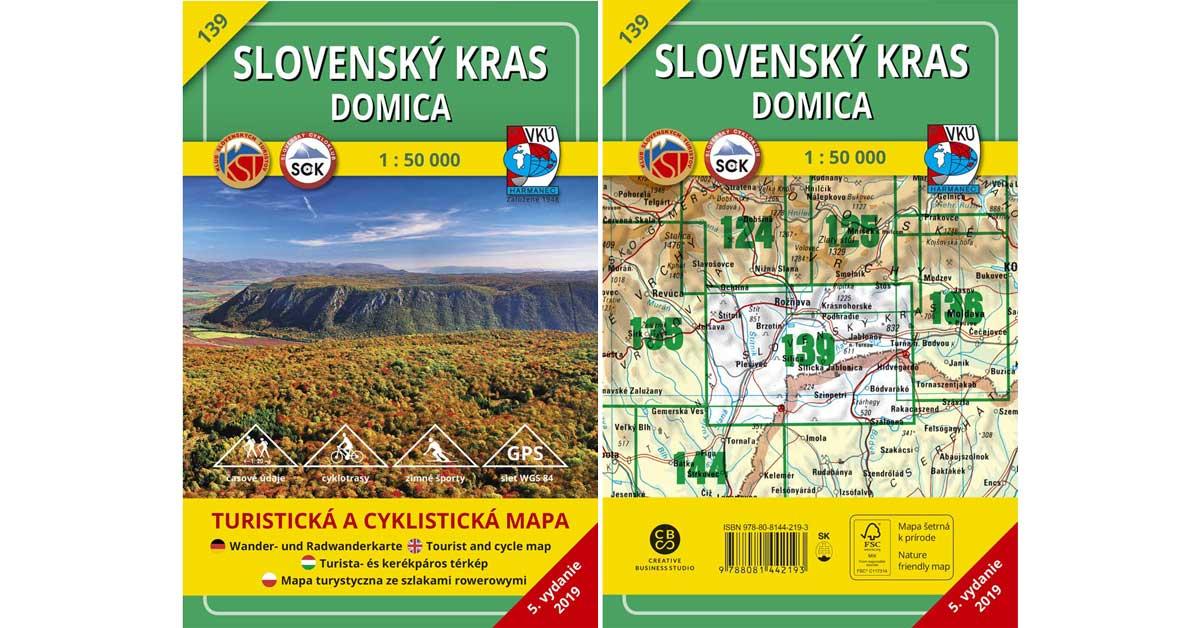 Ďalšia VKÚ mapa je aktualizovaná! TM 139 Slovenský kras – Domica