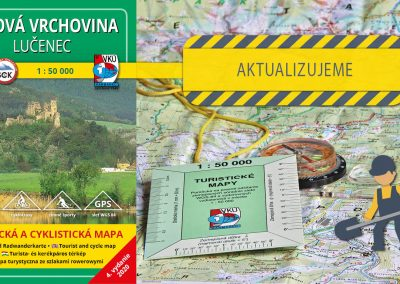 Aktualizácia mapy TM 141 Cerová vrchovina – Lučenec práve odštartovala
