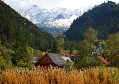 Panoráma Vysokých Tatier od kostolíka v Tatranskej Javorine