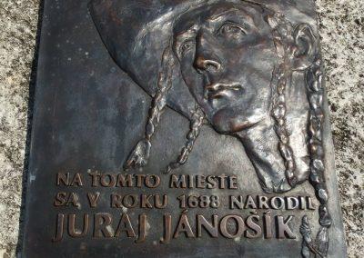 Pamätná tabuľa Juraj Jánošík