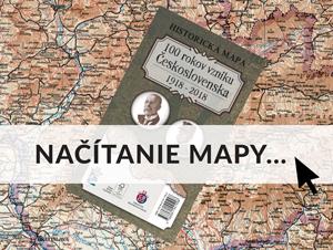 100 rokov vzniku Československa – historická mapa