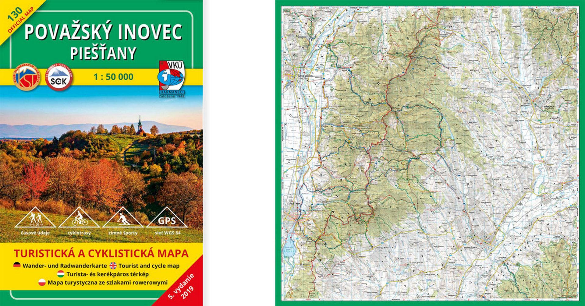 TM 130 Považský Inovec – Piešťany je ďalšou aktualizovanou mapou