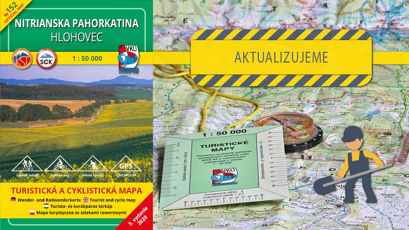 Aktualizácia mapy TM 152 Nitrianska pahorkatina – Hlohovec práve odštartovala