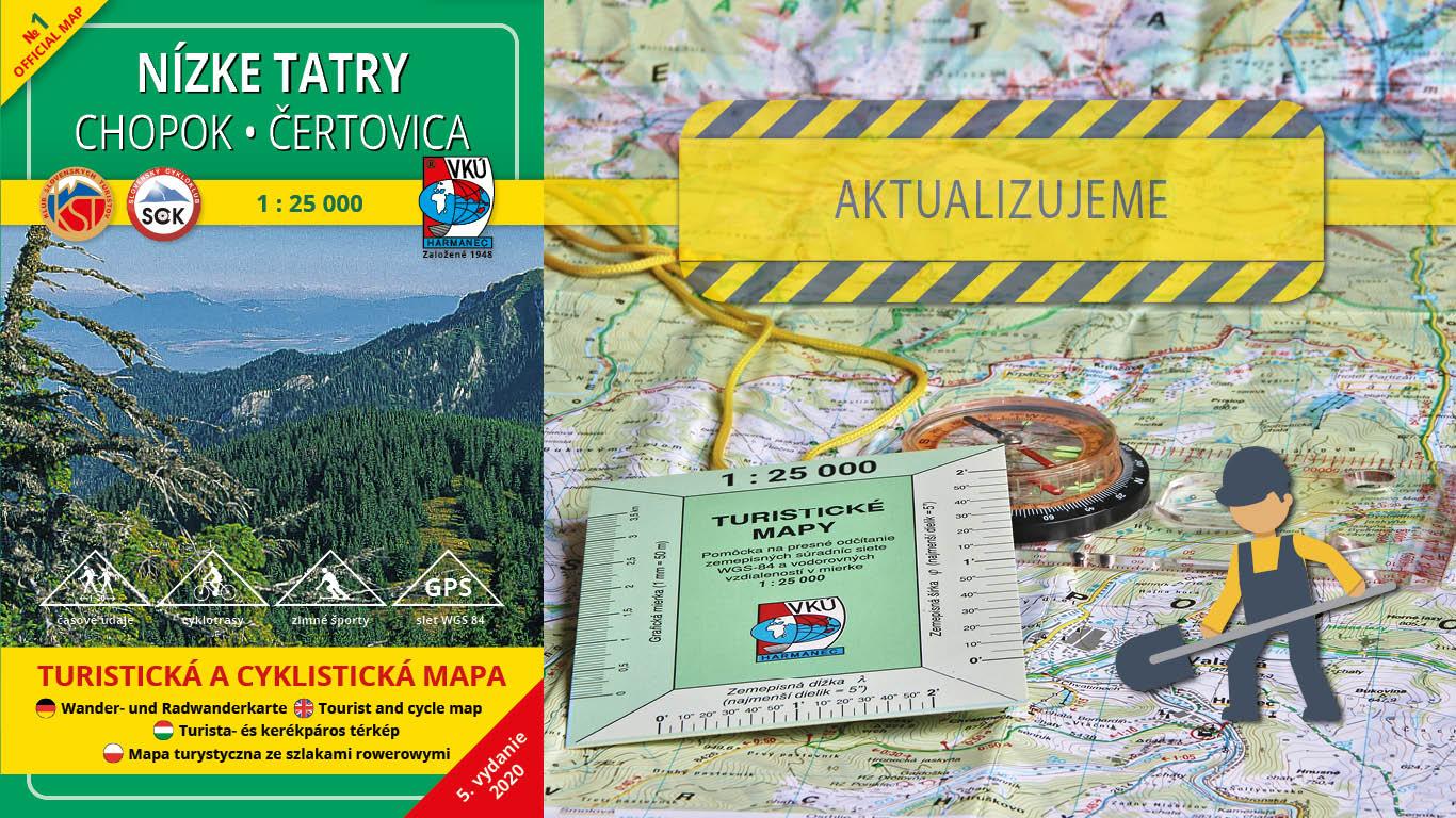 Začína aktualizácia ďalšej mapy v mierke 1:25000 – TM 1 Nízke Tatry – Chopok, Čertovica