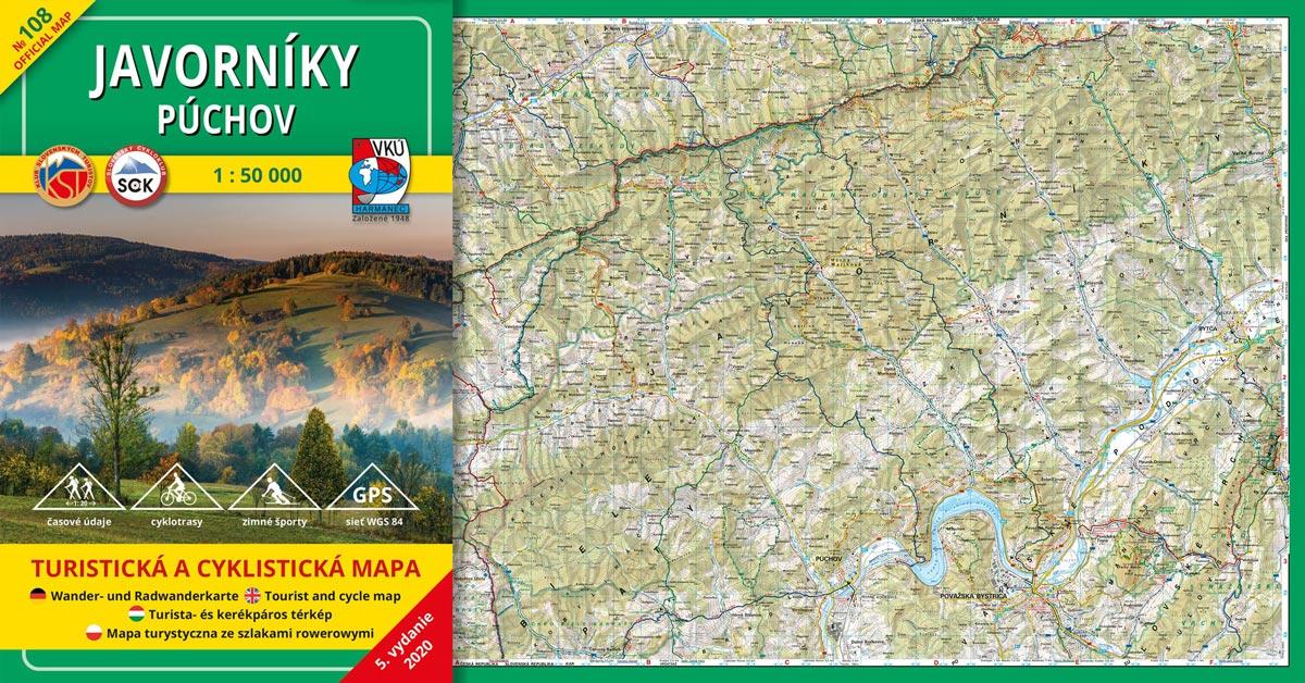 Ďalšia VKÚ mapa je aktualizovaná! TM 108 Javorníky – Púchov