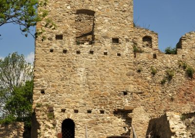 na hrade Bystrica