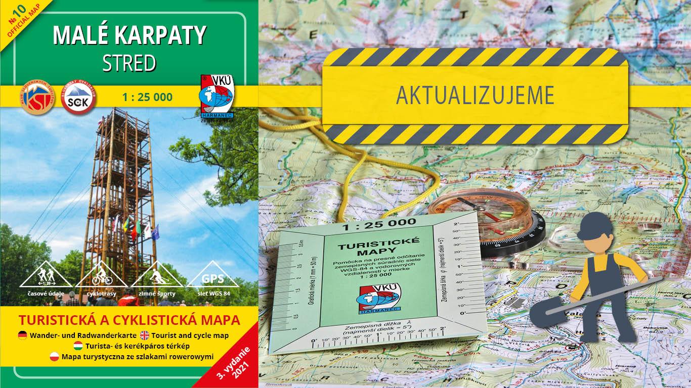 Aktualizujeme TM 10 – Malé Karpaty – Stred v mierke 1: 25000!