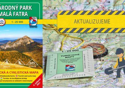 Aktualizujeme už piatu mapu v mierke 1:25000 – TM 8 Národný park Malá Fatra