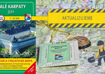 Aktualizujeme šiestu mapu v mierke 1:25000 – TM 9 Malé Karpaty – Juh