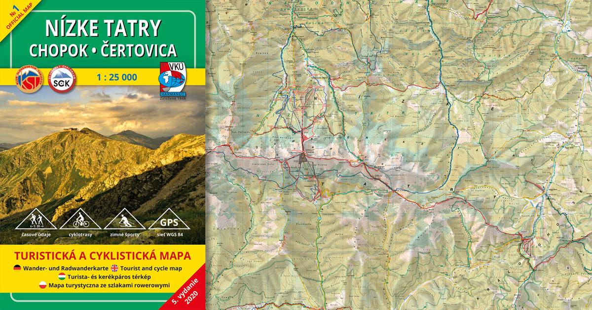 Novinka! TM 1 – Nízke Tatry – Chopok – Čertovica 1:25 000