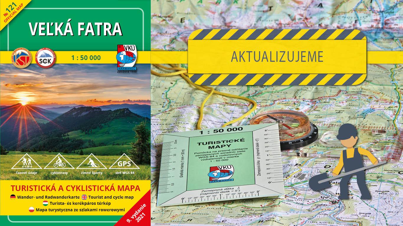 Aktualizácia mapy TM 121 – Veľká Fatra práve odštartovala