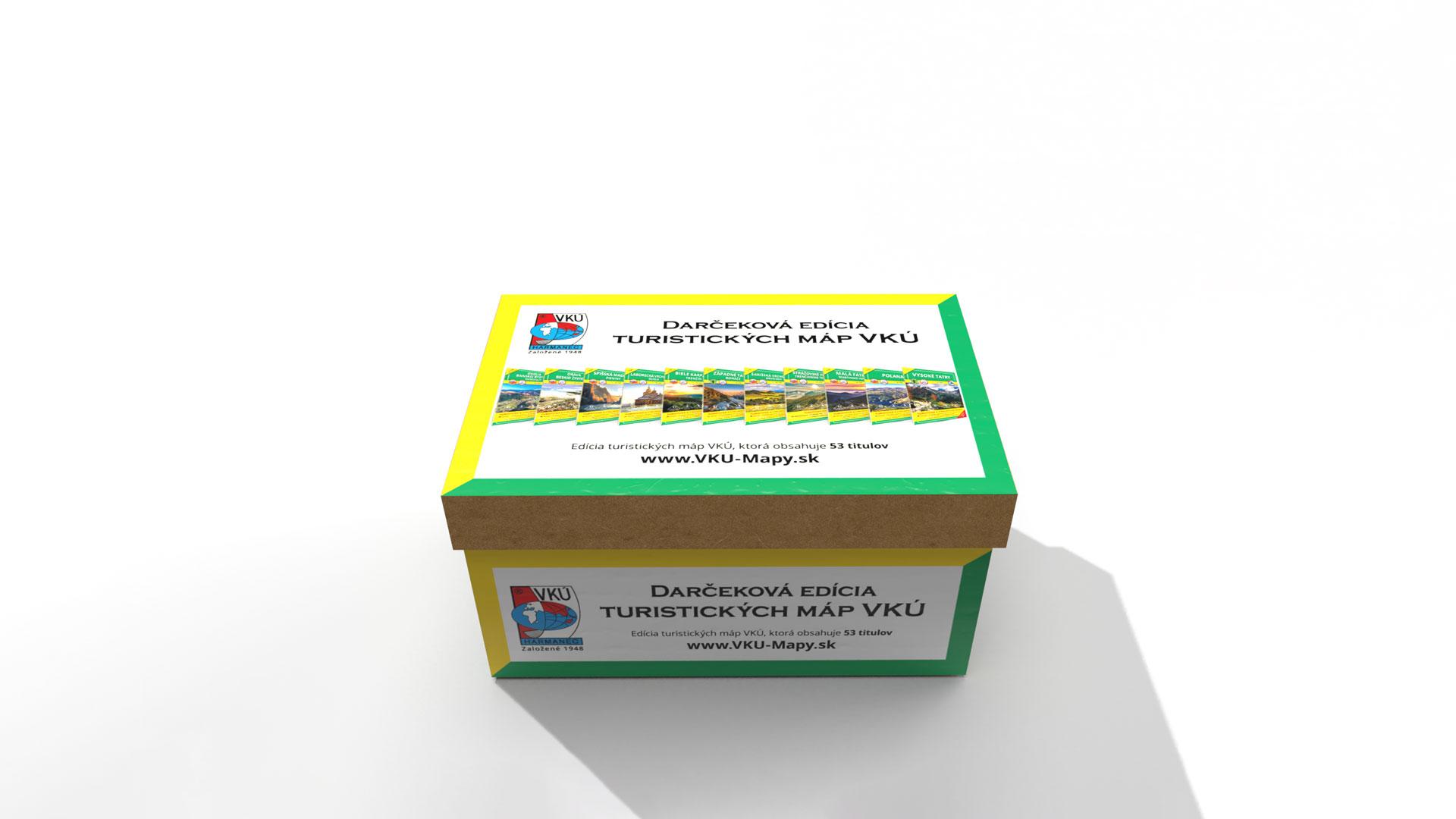 Darčeková krabica máp VKÚ