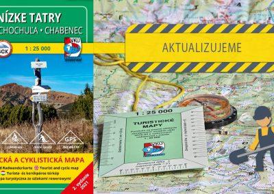 Aktualizujeme siedmu mapu v mierke 1:25000 – TM 12  Nízke Tatry – Veľká Chochuľa – Chabenec