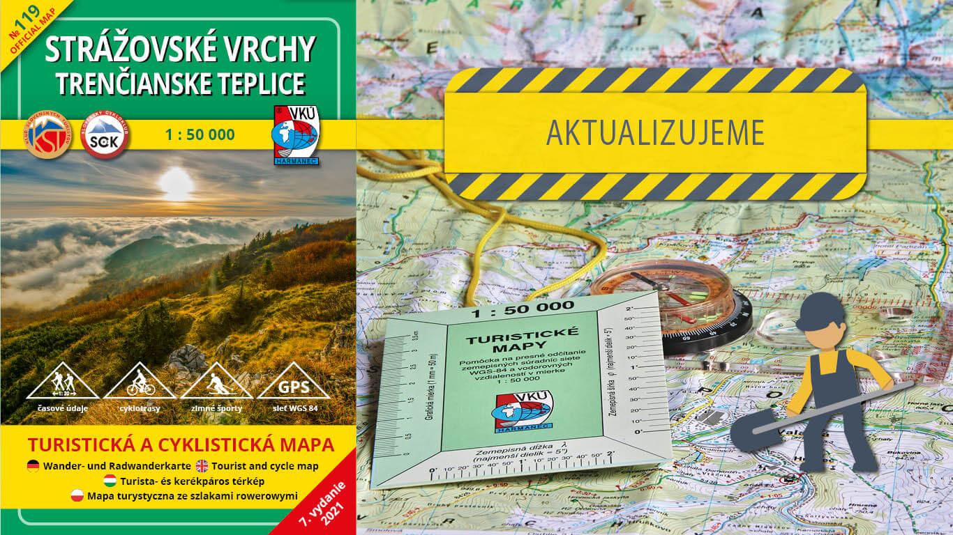 Odštartovali sme aktualizáciu mapy TM 119 Strážovské vrchy – Trenčianske Teplice