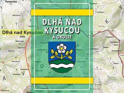 Dlhá nad Kysucou a okolie – turistická mapa katastra obce