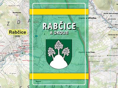 Rabčice – turistická mapa katastra obce