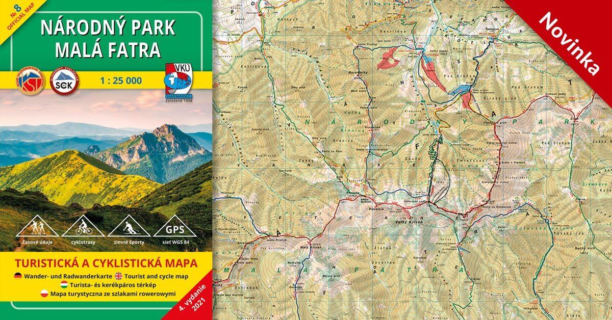 Spoznávajte Národný park Malá Fatra s našou novou mapou