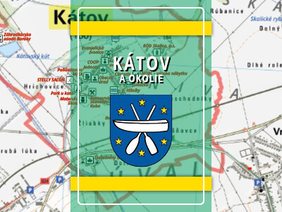 Kátov a okolie – turistická mapa katastra obce