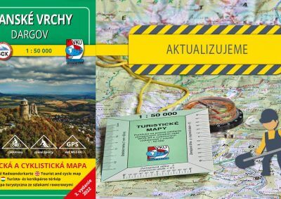 Aktualizácia mapy TM 117 – Slanské vrchy – Dargov práve odštartovala