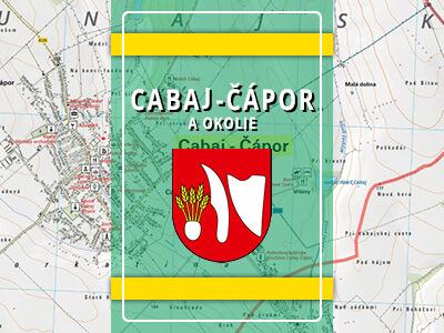 Cabaj-Čápor a okolie – turistická mapa katastra obce