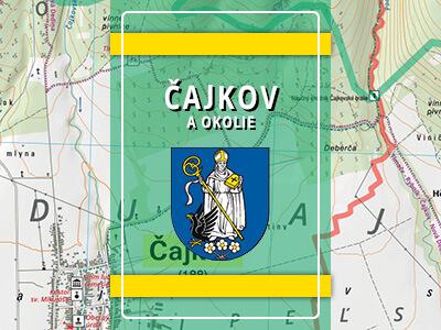 Čajkov a okolie – turistická mapa katastra obce