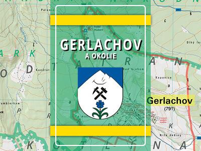 Gerlachov (okres Poprad) a okolie – turistická mapa katastra obce
