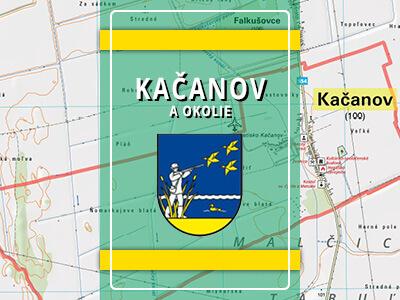Kačanov a okolie – turistická mapa katastra obce