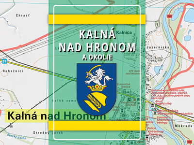 Kalná nad Hronom a okolie – turistická mapa katastra obce